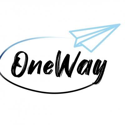 LogoOneWay2.0blueVerlauf Kopie