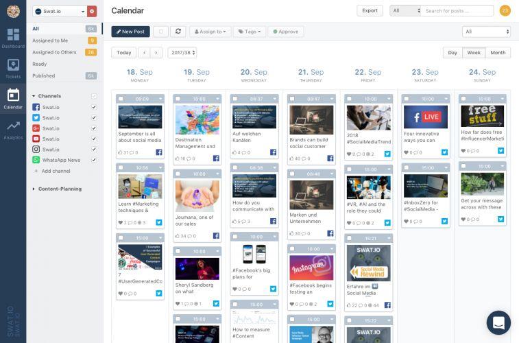 Swat.io - Social Media Kalender
